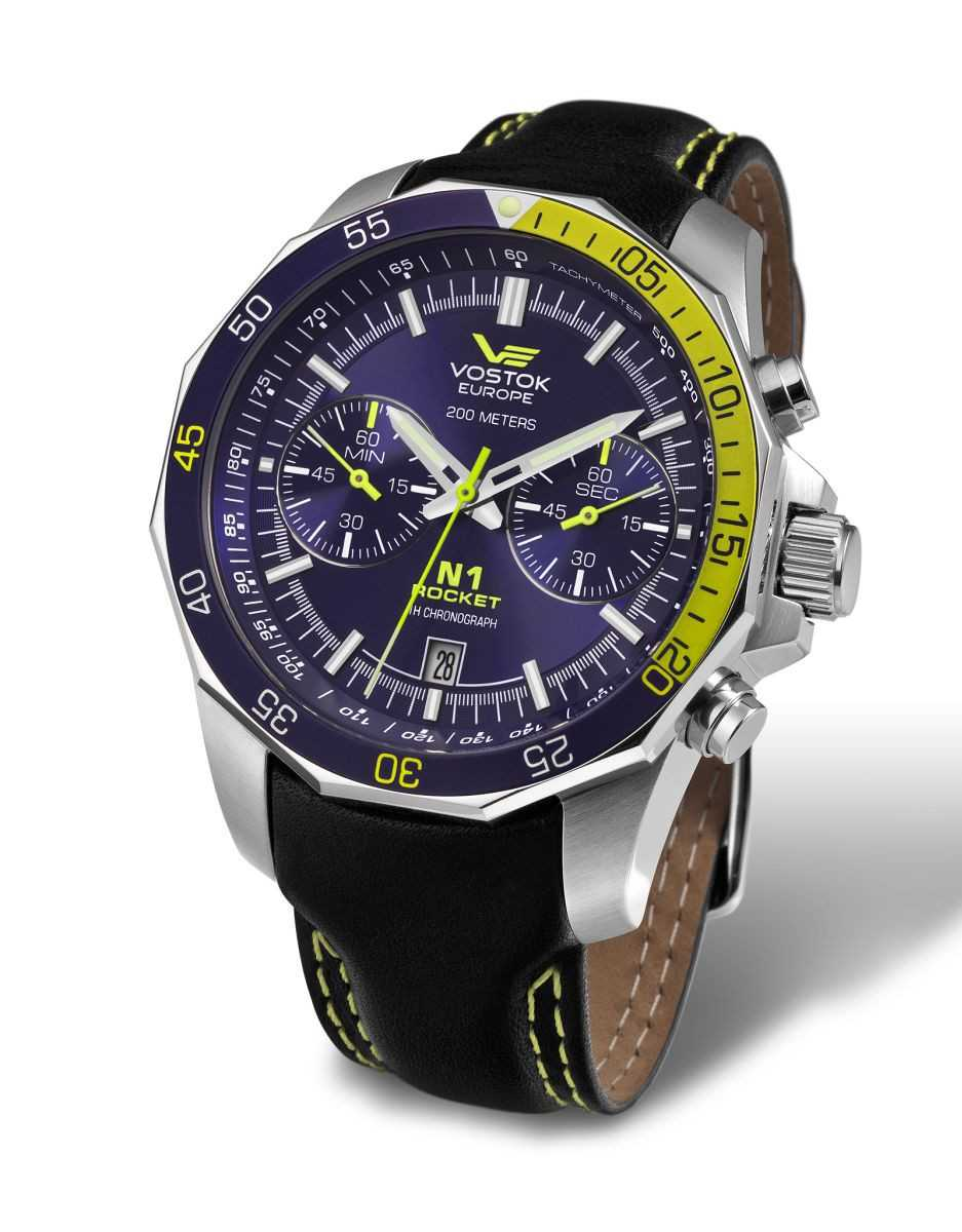 Vostok Europe Rocket N1 Chronograph 2255253-L - Lederband - 46 mm